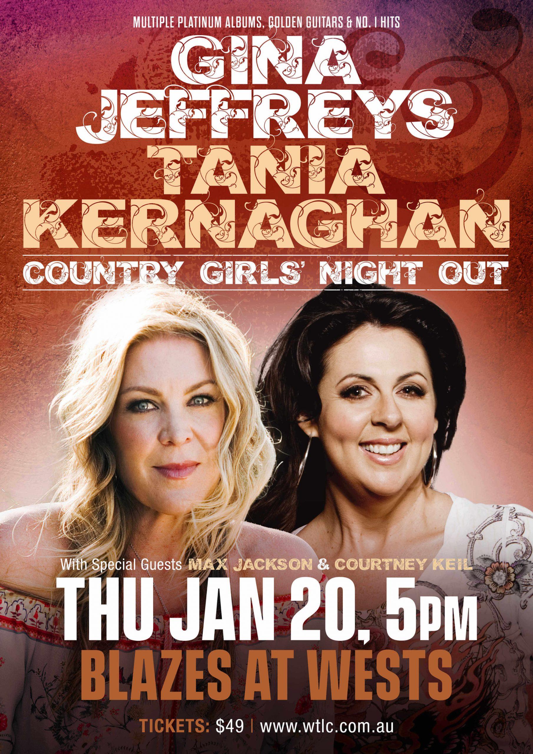 Gina Jeffreys Tania Kernaghan Concert